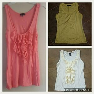 BUNDLE OF 3 Ann Taylor, Express, The Limited Tanks